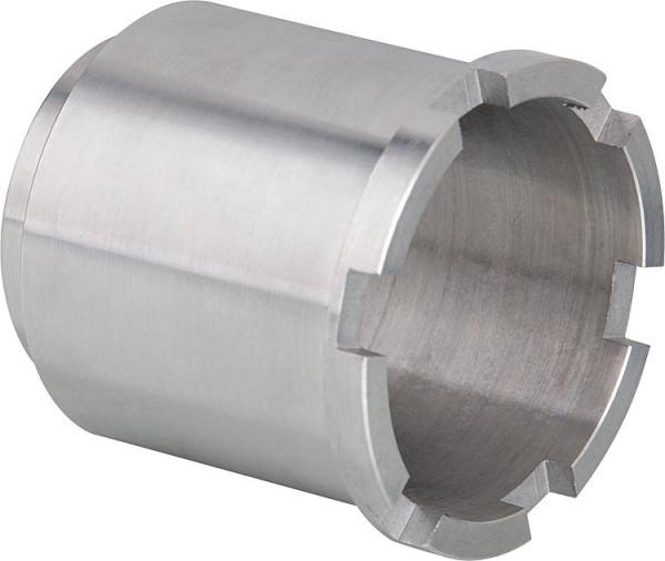 Seitenwand Hüppe Alpha 2 silber matt, 4mm, 785-810mm