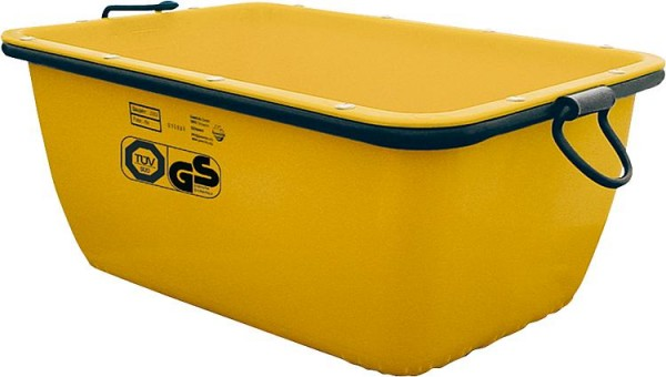 Baueimer 20 Liter gelb kranbar,TÜV VPE = 5 Stück