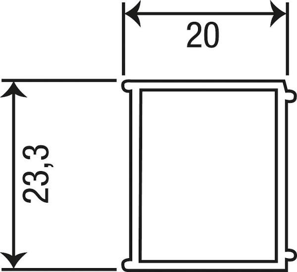 Erweiterungsprofil Eloa, B=20mm, L=1950mm, für mn,mc,mf,ma,mw,md, mq,ml,mg,mt,mb