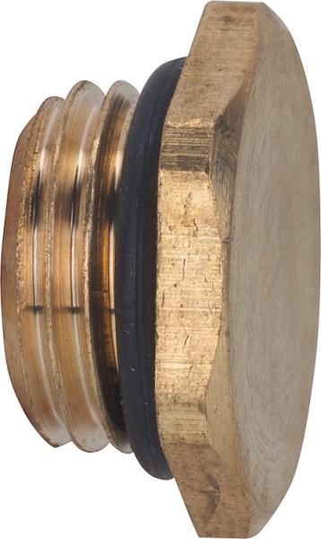 Entleerungsstopfen mit O-Ring Oberfläche: Messing 18361/4 EINZELN