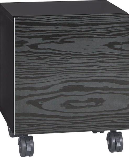 Rollcontainer ELA Korpus weiß smt - Front Eiche Furnier dunkel 400x800x350mm