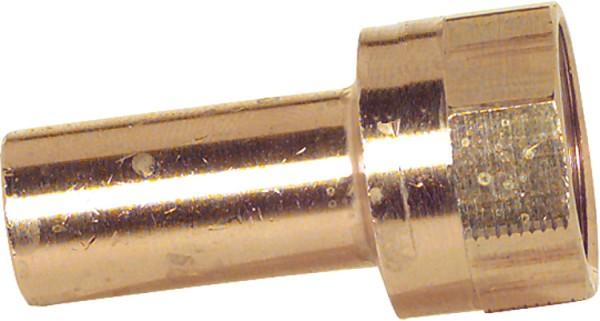 Rotguss Pressfitting Übergangsstück IG 28x1 Typ 6246g, Einsteckende lang