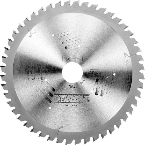 Kreissägeblatt Extreme d=216x30mm mit 80 Trapezflachzähnen, passend für DeWalt D