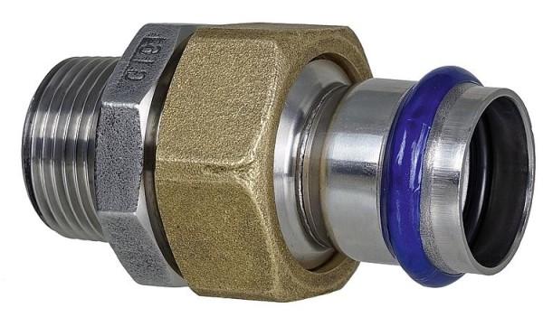 Absatznippel mit AG Edelstahl 35mm x DN32 (1 1/4)