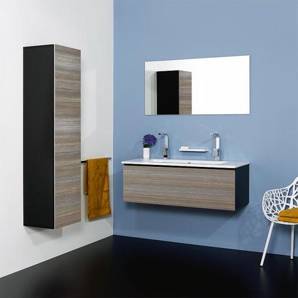 WTU + Keramik-WT Serie ELA Korpus weiß smt - Front schwarz smt 610x420x510mm