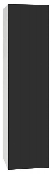 Hochschrank ELA mit Softclose Korpus schwarz smt - Front Teak Anschlag re. 400x1