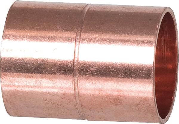Kupferlötfittings 5270 Muffe mit Anschlag 28 mm Kupfer