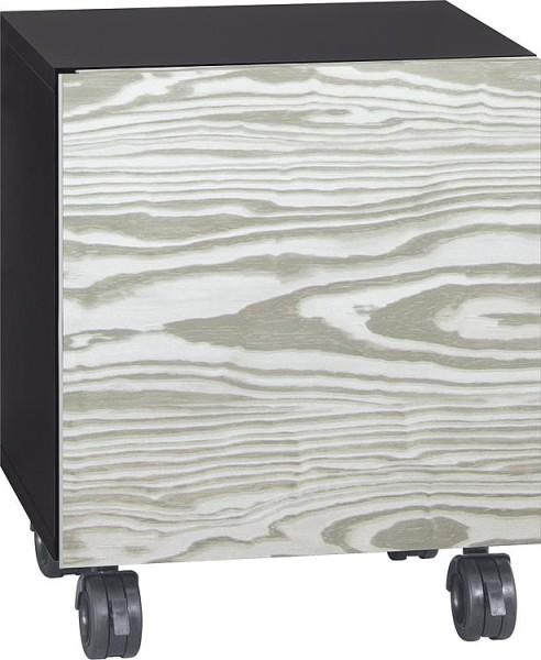 Rollcontainer ELA Korpus schwarz smt - Front weiß smt 400x800x350mm