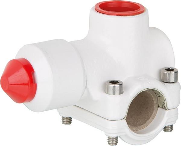 Rohrverbindung Flamco T-Plus für Kopferrohre, dünnwand Stahl- und Edelstahlrohr