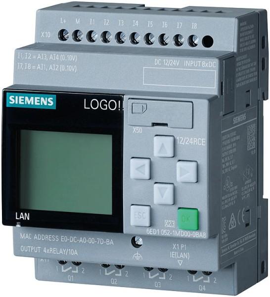 Logikmodul LOGO! 8 Siemens Typ 12/24 RCE, 6ED1052-1MD08-0BA0