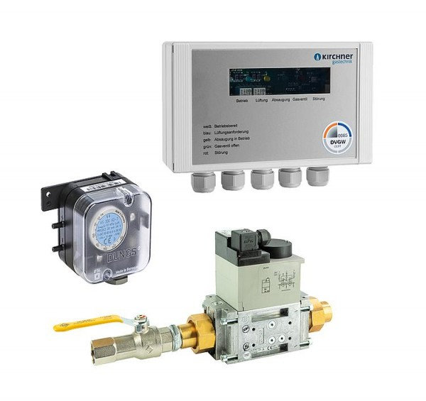 Küchenabgassicherung EMS 320R05 DN20(3/4) 230V bis 55KW Belastung