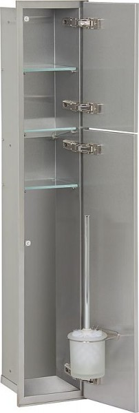 Spiegelschrank Blanda Alu-Optik, 2 Türen, 600x650x165mm