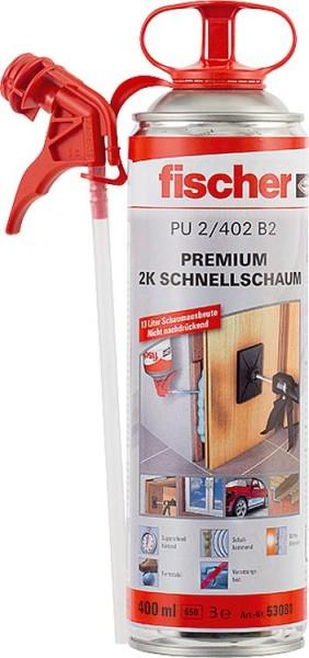 Schnellmontageschaum Fischer Premium 2KPU 400