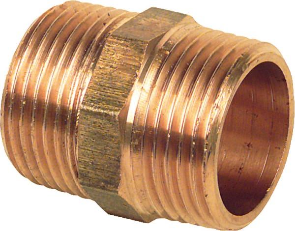 "Viega Rotguß Gewindefitting Doppelnippel Typ 3280 3/8"" a/a"