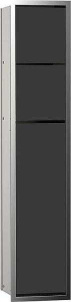 Hochschrank ELA mit Softclose Korpus weiß smt - Front weiß smt 400x800x350mm
