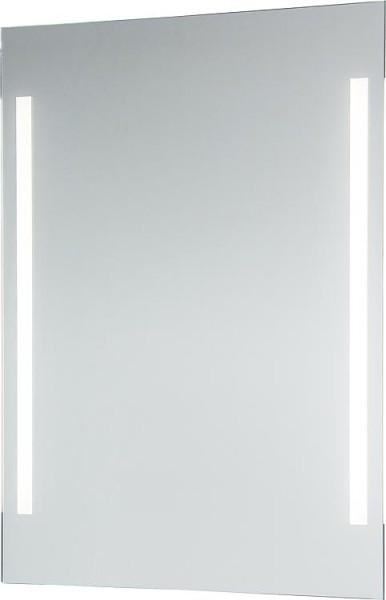 Spiegel Earline mit Beleuchtung und Kippschalter, satin. Lichtsausschnitt BxHxT: