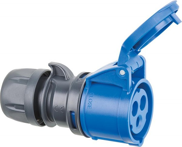 CEE-Kupplung 230V blau/grau