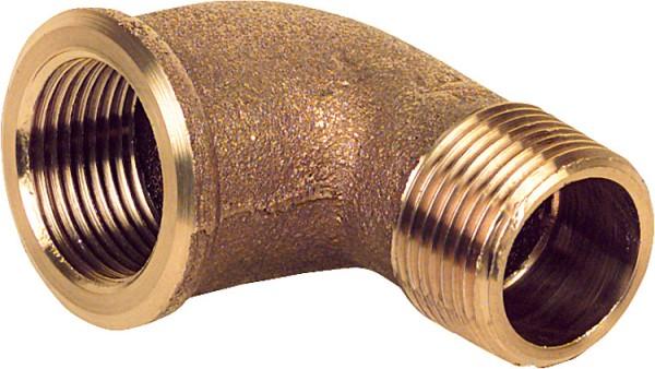Rotguß-Gewindefitting Winkel 90 Typ 30923/8 ixa