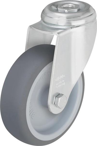 Lenkrolle LKRA TPA 80G Gummi-Laufbelag,Tragfähigk. 100kg Rad D=80mm