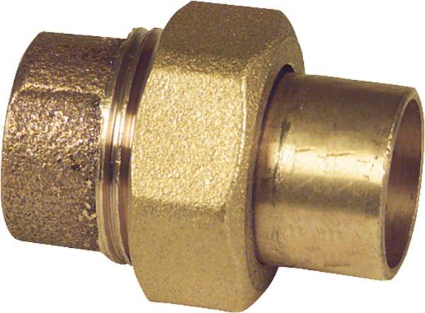 Rotgußlötfittings35mm 4330 Verschraubung flachdichtend