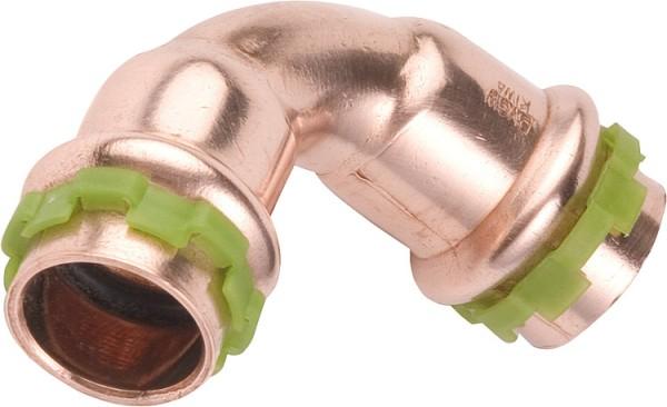 Kupfer Pressfitting Bogen 90 D:15mm TypP5002, i/i