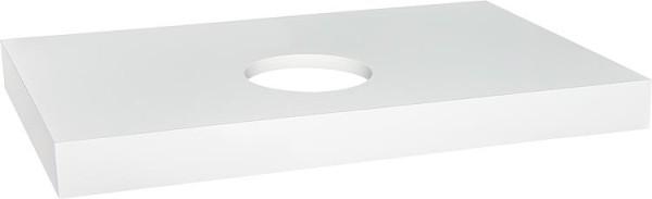 Hochschrank ELA mit Softclose Korpus schwarz smt - Front weiß smt 400x800x350mm