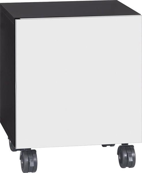 Rollcontainer ELA Korpus weiß smt - Front Eiche sägerau 400x800x350mm