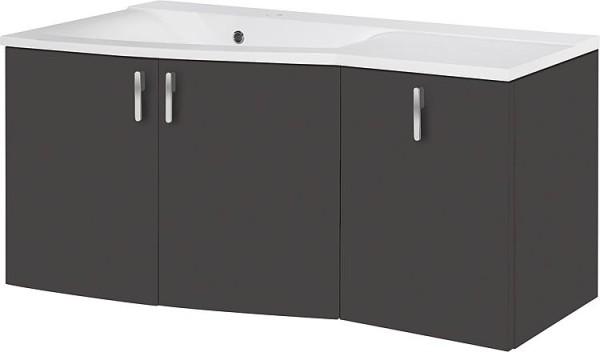 Badmöbel-Set EOLA anthrazit matt Breite700mm 2 Auszüge
