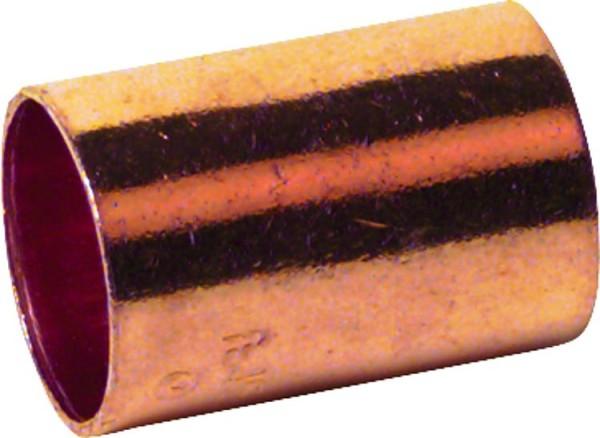 Kupferlötfittings 5270 Muffe mit Anschlag 15mm Kupfer