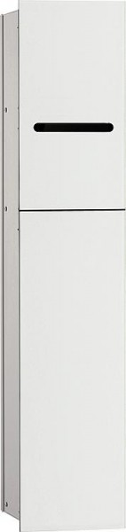 Hochschrank ELA mit Softclose Korpus weiß smt - Front Eiche sägerau 400x800x350m