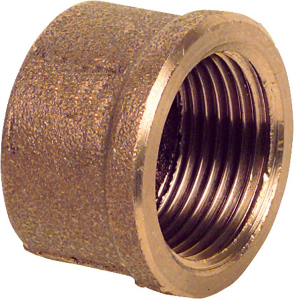 Rotguß-Gewindefitting Kappe Typ 33011 1/2 IG