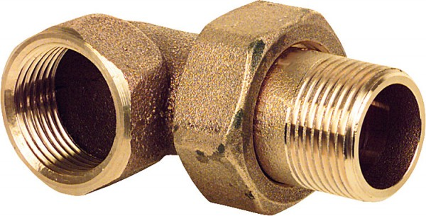 Rotguss-Gewindefitting Winkelverschraubung konisch dichtend Typ 30983/8 IxA