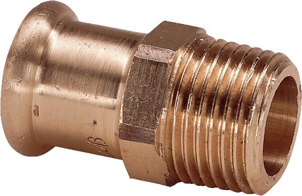 Rotguss Pressfitting Übergangsstück i/a15x1/2 AG Typ 6243g