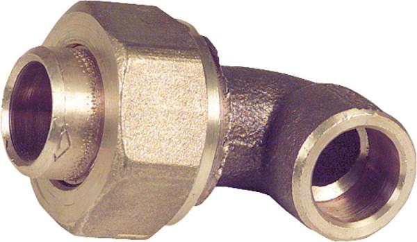 Rotgußlötfitting 4096 Winkelverschraubung 90 konisch dichtend 15 mm