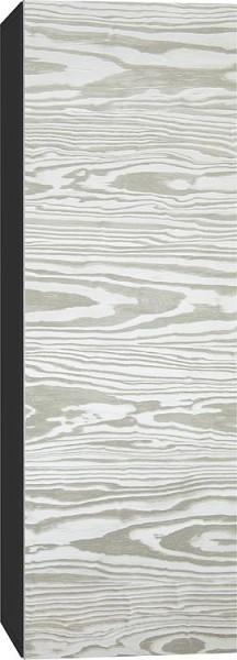 Hochschrank ELA mit Softclose Korpus schwarz smt - Front weiß Front weiß smt 400