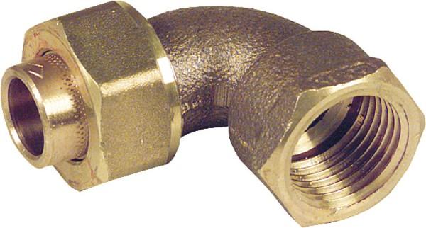 Rotgußlötfittings 4096g Winkelverschraubung 90 konisch dichtend 28-R 1 i/i