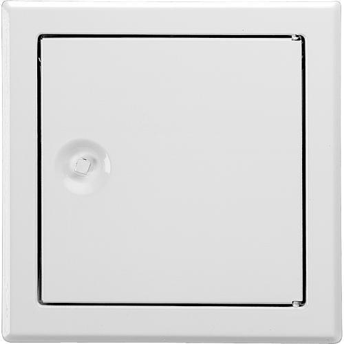 Revisionstür SOFTLINE weiß mit Vierkantverschluss Einbaumaß 350 x 350mm