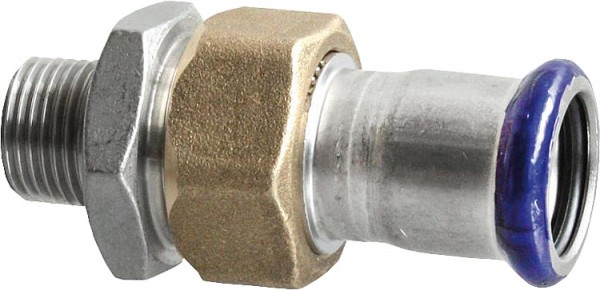 Edelstahl Pressfitting Durchgangsverschraubung, (i/AG), 28 mm x 1