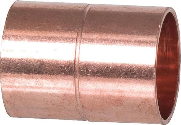 Kupferlötfittings 5270 Muffe mit Anschlag 22mm Kupfer