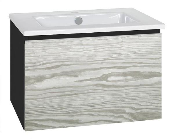 WTU + Keramik-WT Serie ELA Korpus schwarz smt - Front weiß smt, 910x420x510mm