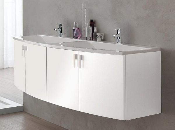 Badmöbel-Set EOLA weiß matt Breite 700mm 2 Auszüge