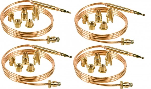 4 x Thermoelement universal Standard 600mm länge + Adaptern für viele Hersteller
