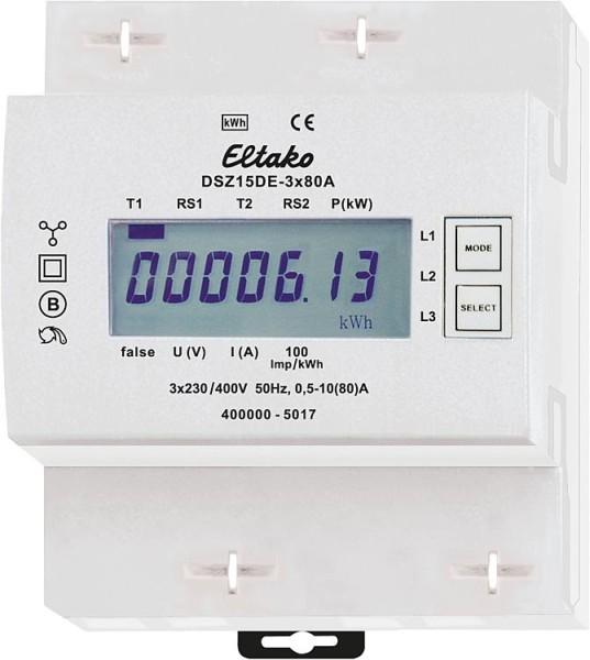 Stromzähler Drehstrom Eltako DSZ15DE-3x80A