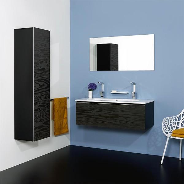 WTU + Keramik-WT Serie ELA Korpus weiß smt - Front Eiche sägerau 610x420x510mm