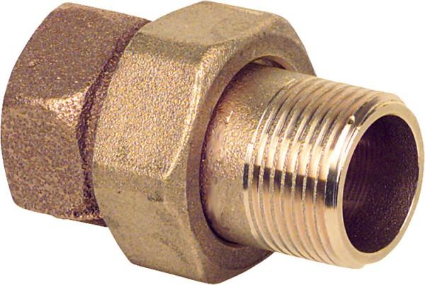 Rotguss-Gewindefitting Verschraubung konisch dichtend Typ 33411 1/2 IxA