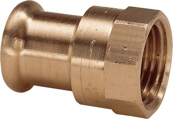 Rotguss Pressfitting Übergangsstück i/i15x3/4 Typ 6270g