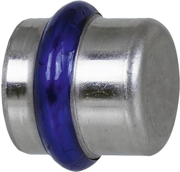 Edelstahl Pressfitting V-Kontur Kappe 15mm