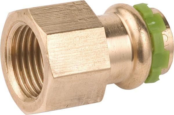 Rotguß Pressfitting Übergangsmuffe mit IG 18x3/4 P 4270 G