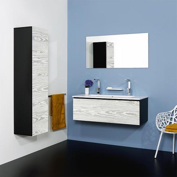 WTU + Keramik-WT Serie ELA Korpus schwarz smt - Front weiß smt 610x420x510mm