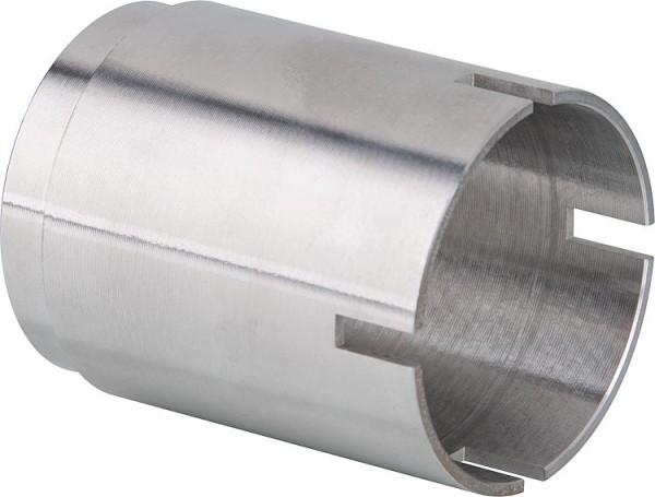 Seitenwand Hüppe Alpha 2 silber matt, 4mm, 735-760mm